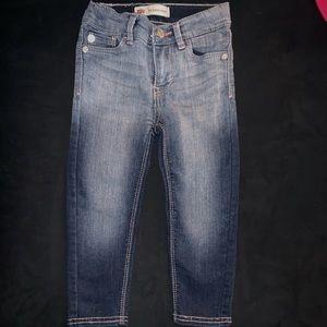 Levi's toddler 2T denim jeans w/ backpocket detail
